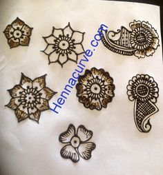 Mehndi Designs For Beginners Step By Step - Flowery Henna | Hennacurve