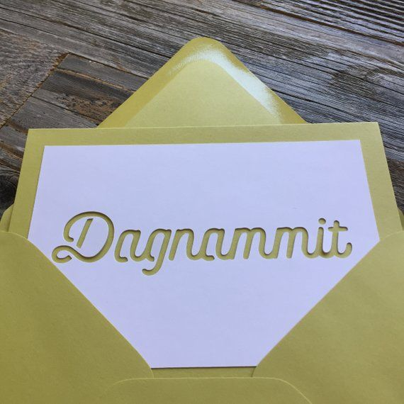 Dagnammit Card Funny Belated Birthday Old People