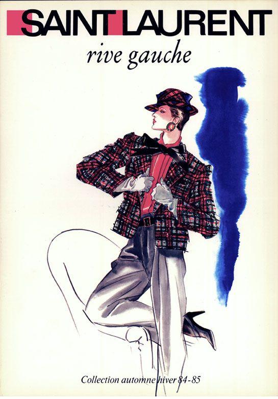 Illustration pour Yves Saint Laurent Rive Gauche http://www.vogue.fr/culture/a-voir/diaporama/les-mondes-merveilleux-d-antonio-lopez/9576/image/570137#illustration-pour-yves-saint-laurent-rive-gauche