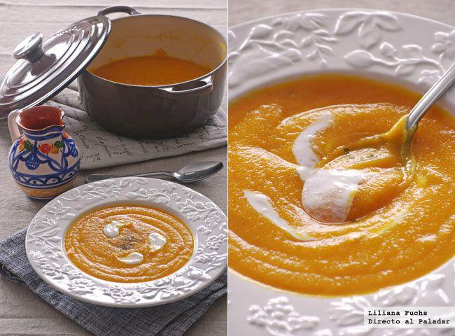 Receta de crema de lentejas rojas, con triple color naranja. Incluye fotografías del paso a paso, consejos y sugerencias de degustación. Recetas ...