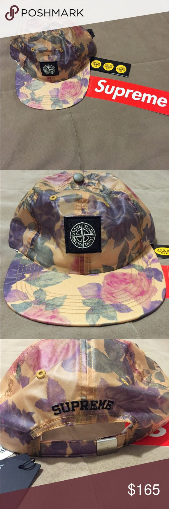 SUPREME - Stone Island Collab Copper floral hat. Comes with tags. Never worn. Supreme Accessories Hats