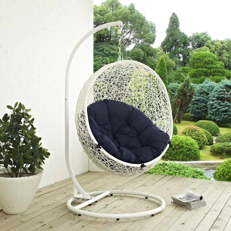 Hide Outdoor Patio Swing Chair in White Navy: Product Hide Outdoor Patio Swing Chair in White Navy – Click Here Hide… #OnlineShopping