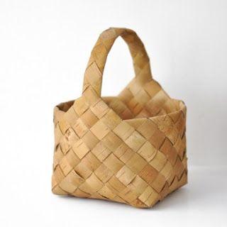 bias plaited basket