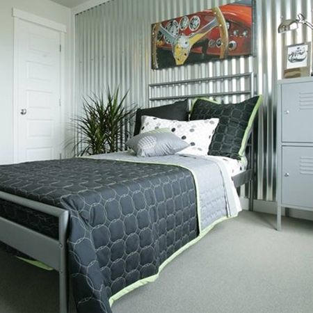 Best 25 sheet metal wall ideas only on pinterest rustic - Using corrugated metal for interior walls ...
