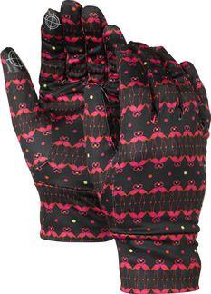 Burton Women's Touchscreen Liner Glove True Black Flamingo Print - Sport Chalet