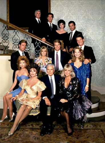Dynasty...I delivered in the birthing room watching an episode of this!