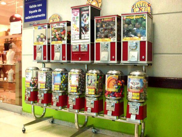 franquia de máquinas de venda automática de doces e brinquedos