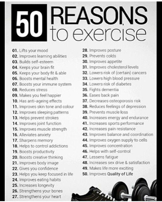so many benefits #exercise