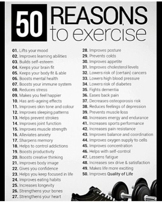 50 Reason To Work Out TODAY workout excercise healthy tips onelife justdoit