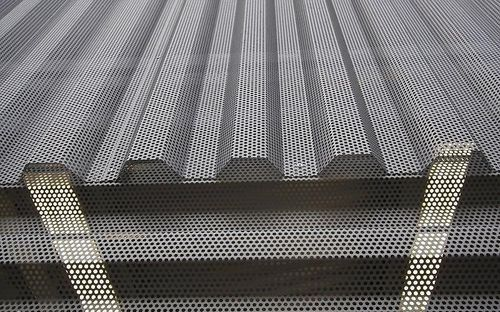 Corrugated Architectural Metal Siding Perforated
