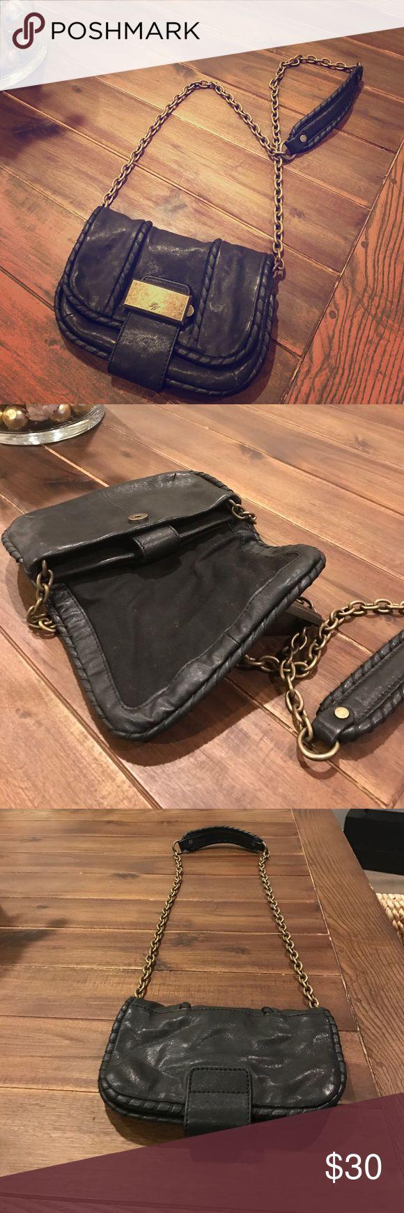 Zara purse Black leather Crossbody purse. Like new Zara Bags Crossbody Bags
