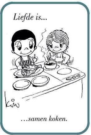 Liefde is...samen koken.