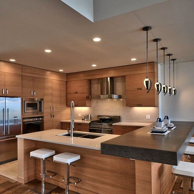 Beautiful Modern Kitchens With Islands Ideas: 50 Best Pendant Lights Over Kitchen Islands Images On