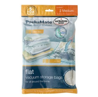 Packmate Flat Vacuum Storage Bags - Medium x2