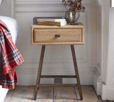 1940s-style Campaign Bedside Table - the sleep room