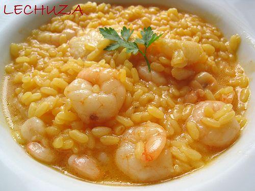 Cocina BáSica: Arroz Caldoso Con Bacalao Y Gambas                                                                                                                                                                                 Más