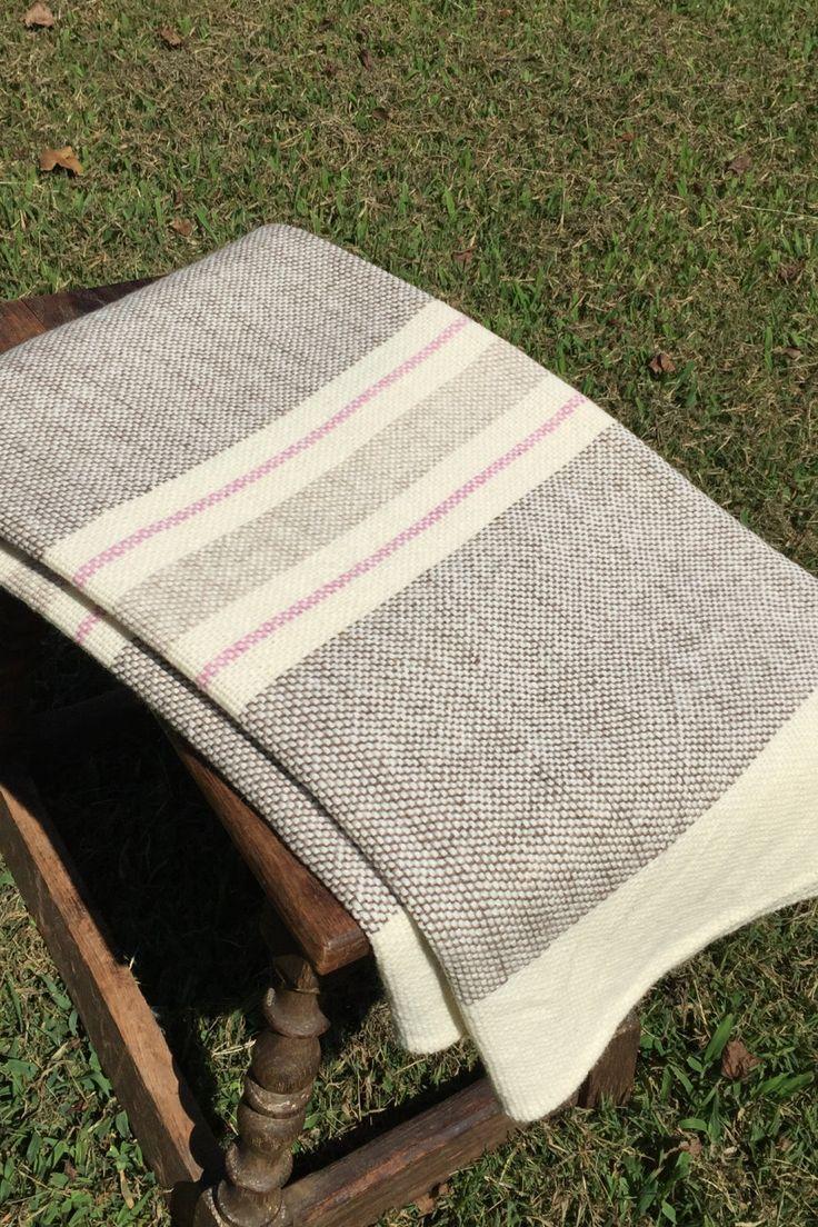Hand Woven Merino Wool Blanket by NordtFamilyFarm on Etsy