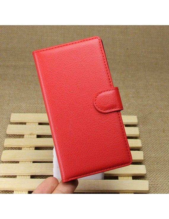 Δερμάτινη Θήκη Πορτοφόλι με Βάση Στήριξης για Nokia Lumia 930 / Lumia Icon 929 - Κόκκινο
