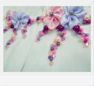 ♥♥ MY LITTLE HOBBY ♥♥: Crumble Mumble With Satin Flower ~ Pink Purple