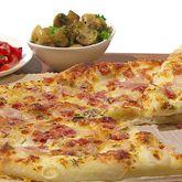 Pizza blanche au salami et garnitures - Qu'est-ce qu'on mange pour souper