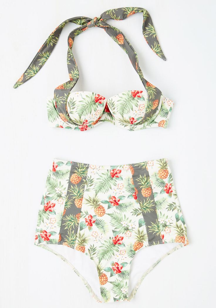 Place Beyond the Pineapples Swimsuit Top. Theres no limit to your loveliness in this tropical, ModCloth-exclusive swimsuit! #multi #modcloth