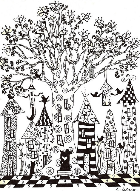 village zentangle