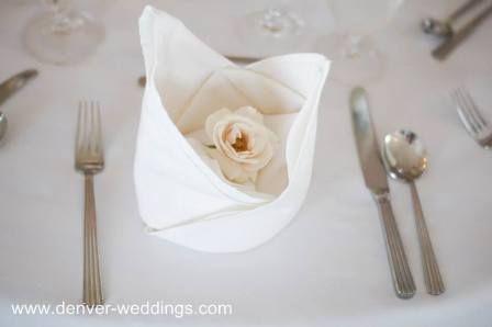 wedding napkin fold