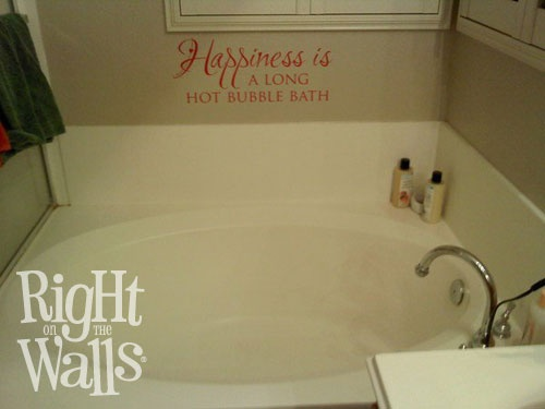 a long hot bubble bath vinyl wall sticker should be very high on that list of pampering yourself our wall decals