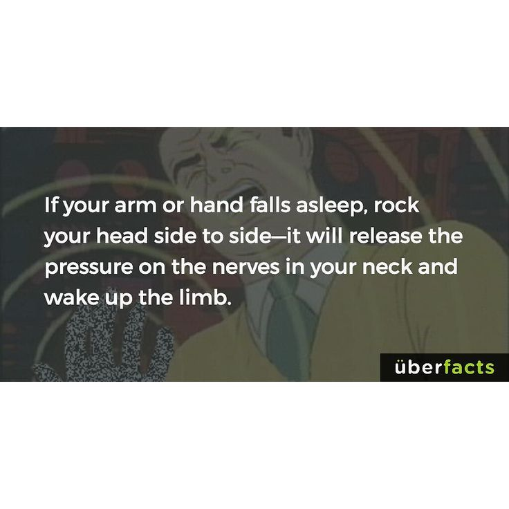 Here's what to do if your hand or arm falls asleep... #uberfacts