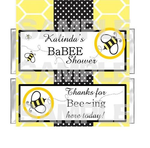 FREE FOILS Buzz Bee BaBee Baby Shower Candy Bar Wrappers PARTY FAVOR