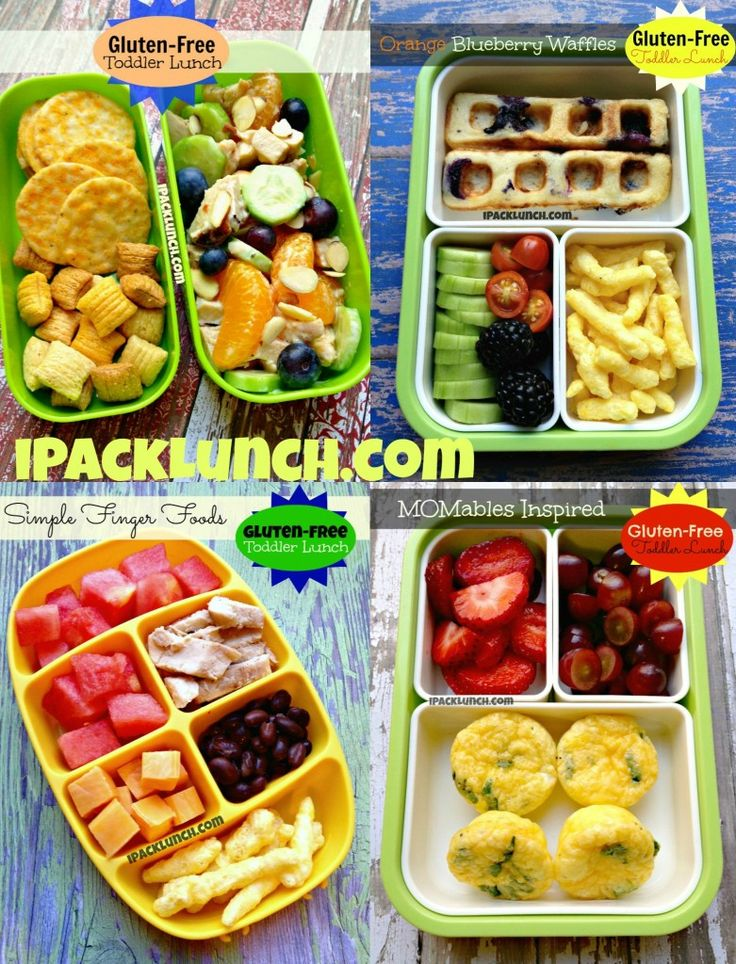 Gluten Free toddler lunches