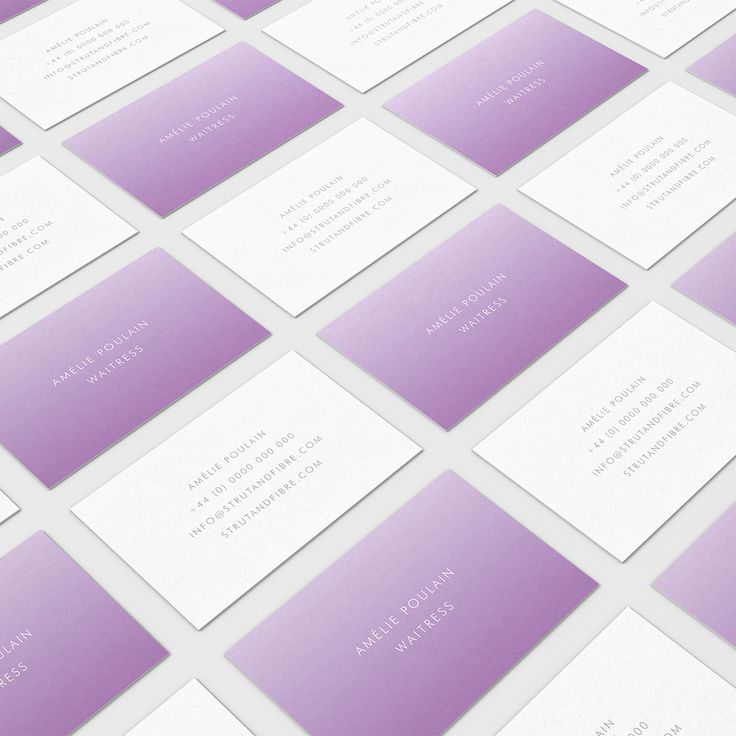 Poulain – one of our Contemporary business card templates available to customise and order on our site.