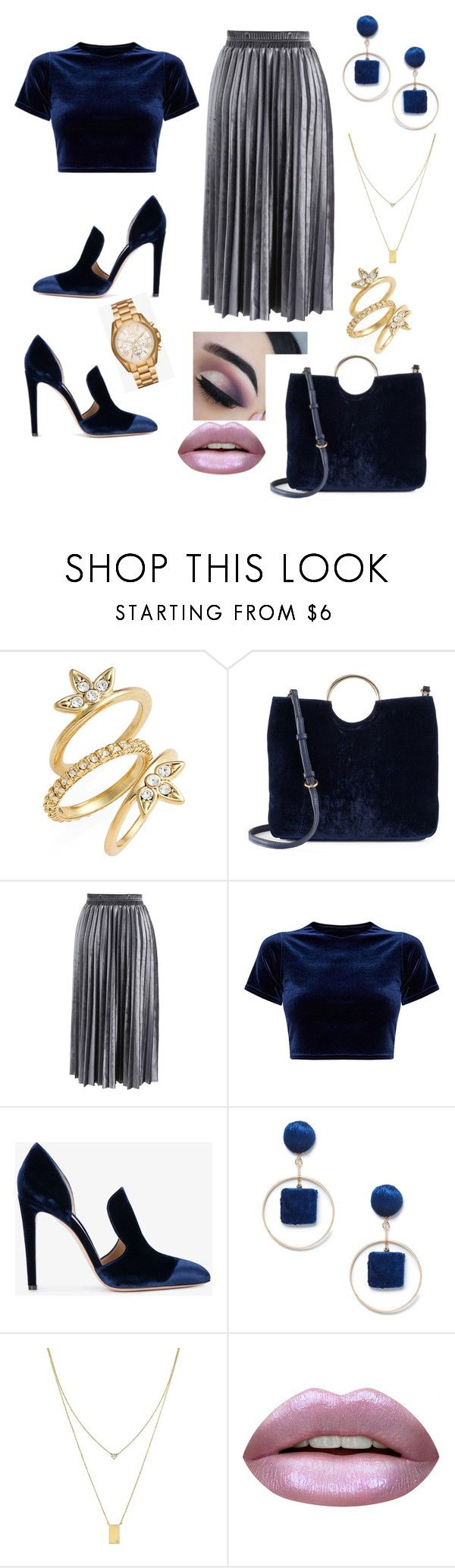 """""""Sadie"""" by loveisablindwar on Polyvore featuring Luv Aj, LC Lauren Conrad, Chicwish, Gianvito Rossi, Sole Society, Botkier, Huda Beauty and Michael Kors"""