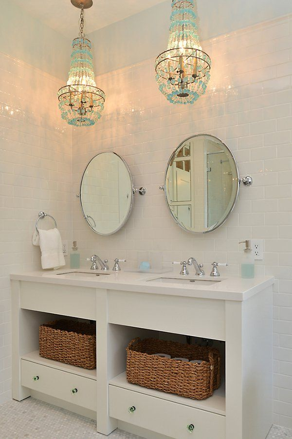 613 best images about adorable bathrooms on pinterest for Cottage bathroom vanity ideas