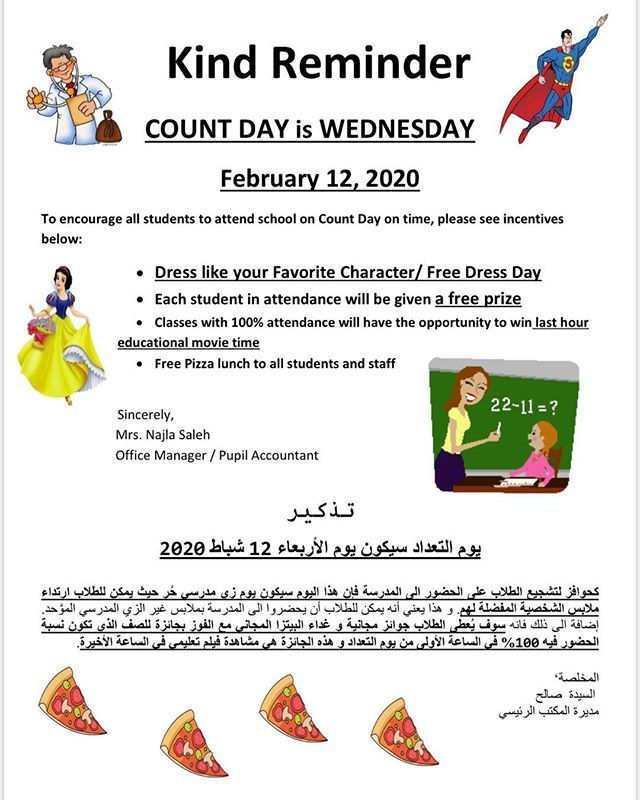 Sia George Parents And Students Dont Forget Tomorrow Wednesday 2 12 2020 Is Count Day Please Be Sure To Send Your Child To S Kind Reminder Student Count Days