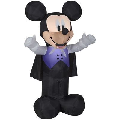 Disney Mickey & Friends 3.5-ft x 2.09-ft Internal Light Mickey Mouse Halloween Inflatable