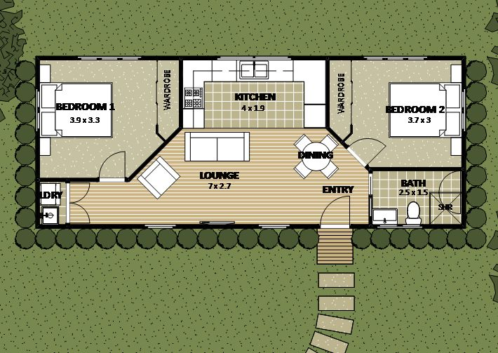 granny flat floor plan 3 | tiny homes | pinterest | granny flat