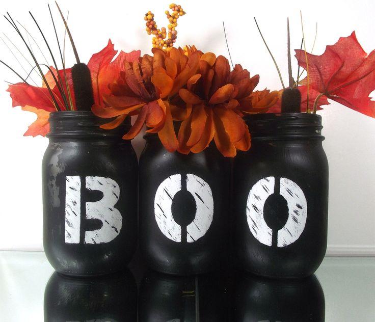 Halloween Decorations boo Mason jars