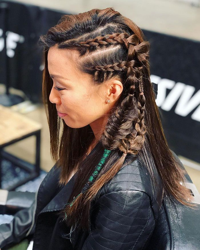 Fierce Viking Hairstyles For Modern Day Valkyries Hair Styles Braided Hairstyles Viking Hair