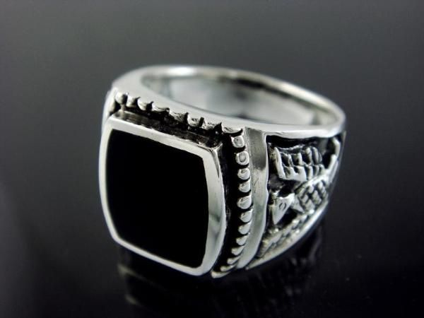 Image result for Ring With Black Gemstone