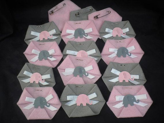60 pc Dirty Diaper Game Baby Shower Elephant by BumBeaCompany