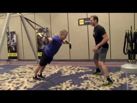 TRX Workout with Inventor Randy Hetrick...I want to try TRX training! @Allison Isakoff