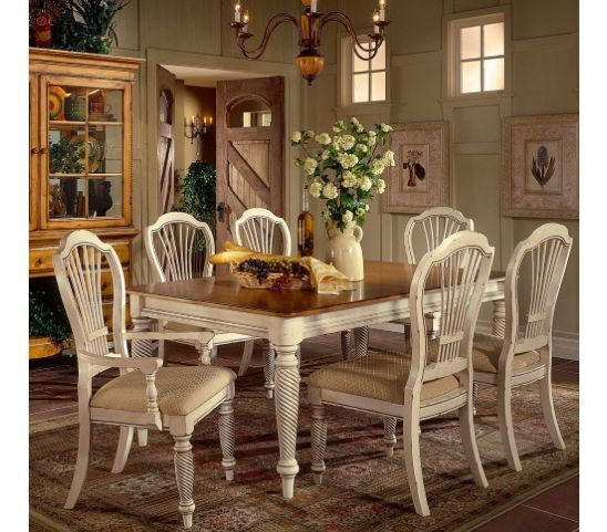French Country Dining Set. Country Cottage Style Includes Table U0026 Chairs  With Antique Painted Wood