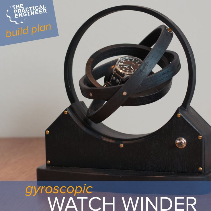 DIY Woodworking Ideas Make your own gyro watch winder by following the steps in this build plan.