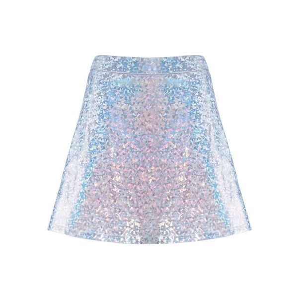 ROMWE Colorful Holographic Material Vinyl Skirt (195 HRK) ❤ liked on Polyvore featuring skirts, bottoms, holographic, multi colored skirt, colorful skirts, vinyl skirting, holographic skirt and multi color skirt