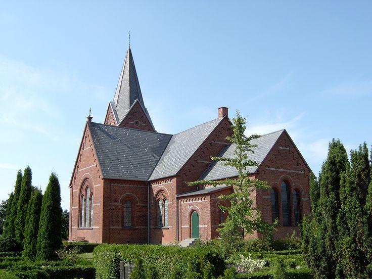 Bandholm Church, Bandholm kirke, Bandholm, Lolland, Denmark. Photo: Kurt Thorleif Jensen.