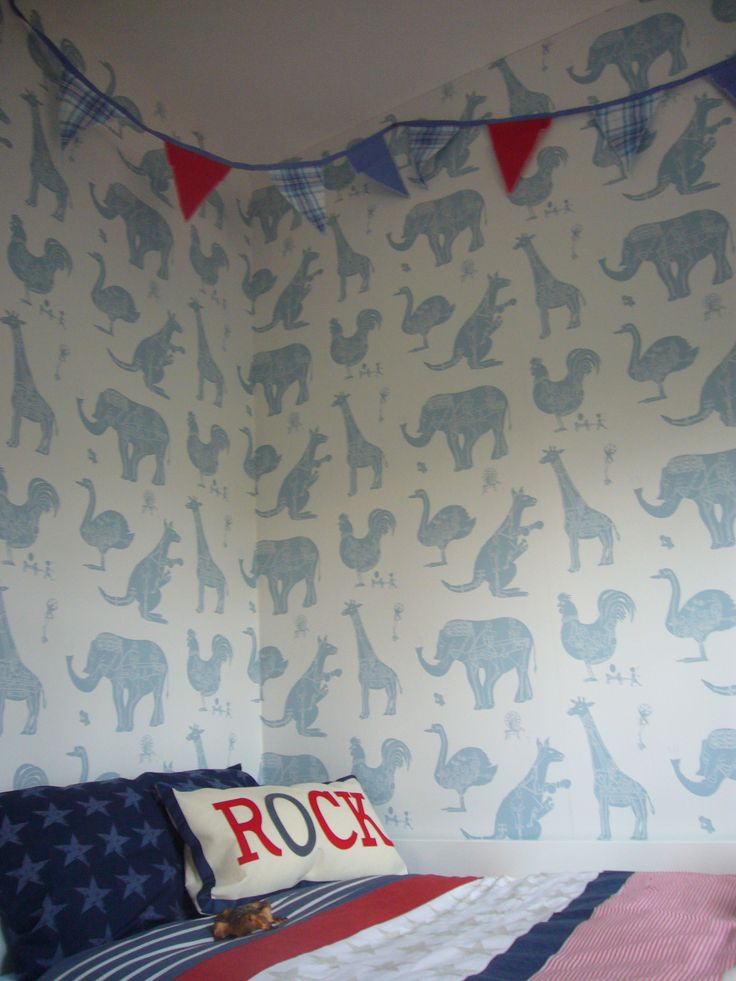 Lovely 'How it works'  wallpaper from Paperboy which I used in a showhouse kids bedroom by www.saltinteriors.co.uk