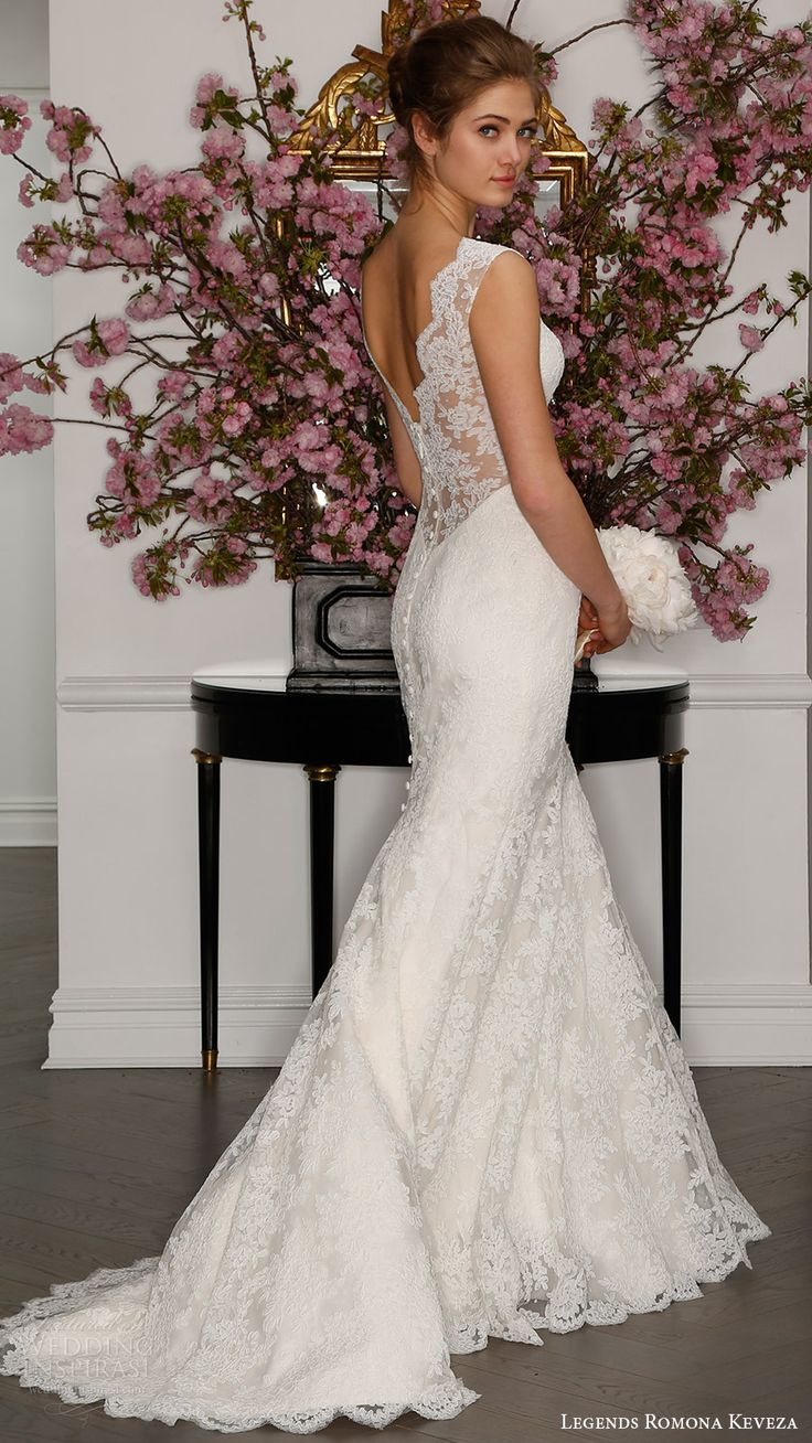 legends romona keveza bridal spring 2017 sleeveless illusion deep vneck lace sheath gown wedding dress (l7132) bv low illusion back train