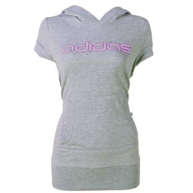 Adidas- Ladies Sleeveless Hooded Sweater Top with Glitter/Bubble Design £24.95