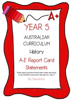 * Now UPDATED to align with V8.1 of the Australian Curriculum*Report card writing has never been easier! Save time and be confident that your comments are well written and designed to align to the Australian Curriculum Achievement Standards. This file contains 90 A - E report card comments for Year 5 History.Suitable for all states and territories, my comments are currently being used in over 600 Queensland schools.Available in Word format for easy cutting and pasting into documents.Find…